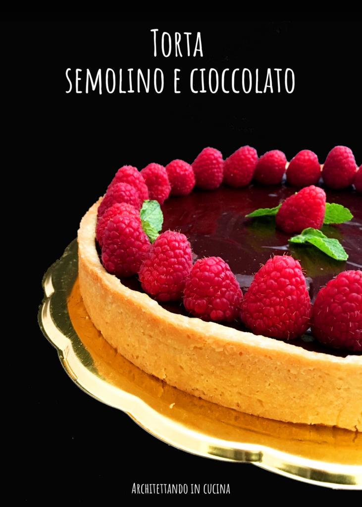 Torta semolino e cioccolato