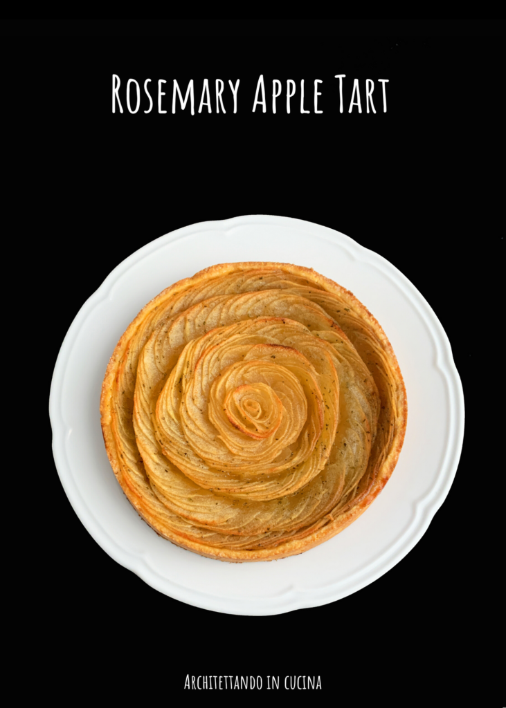 Rosemary Apple Tart o crostata di mele e rosmarino