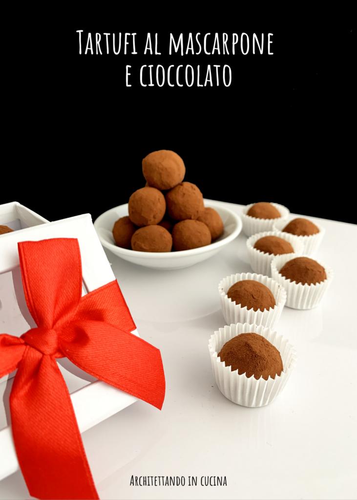 Tartufi al mascarpone e cioccolato