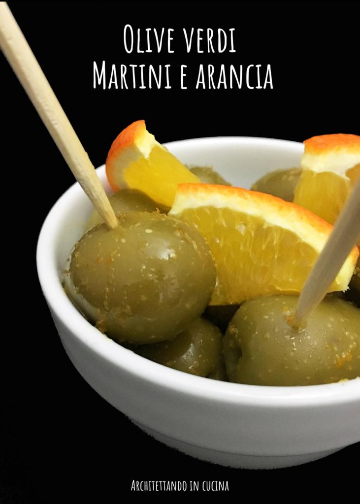 Olive verdi, Martini e arancia