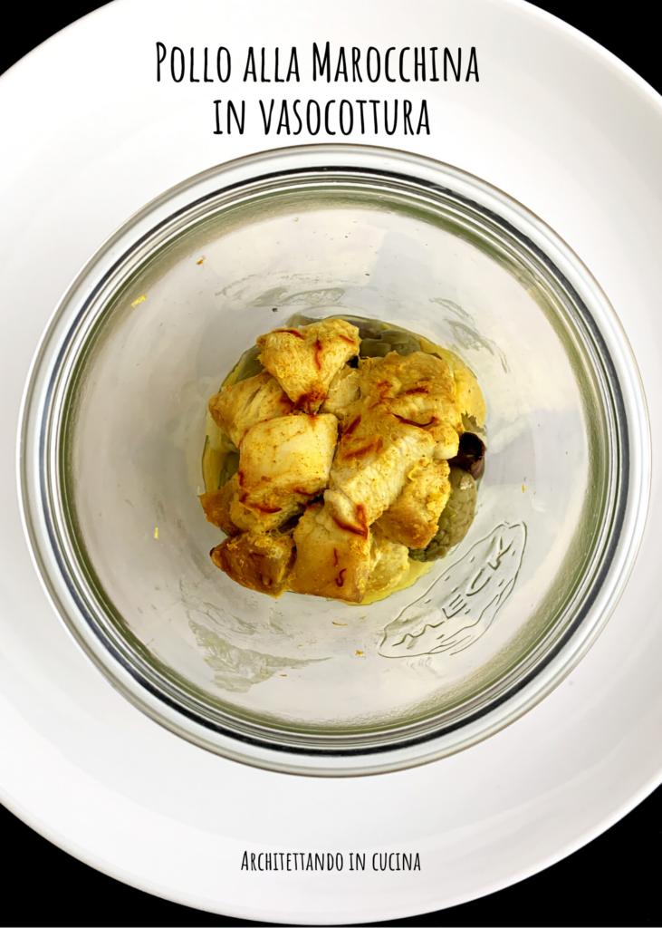 Pollo alla marocchina in vasocottura
