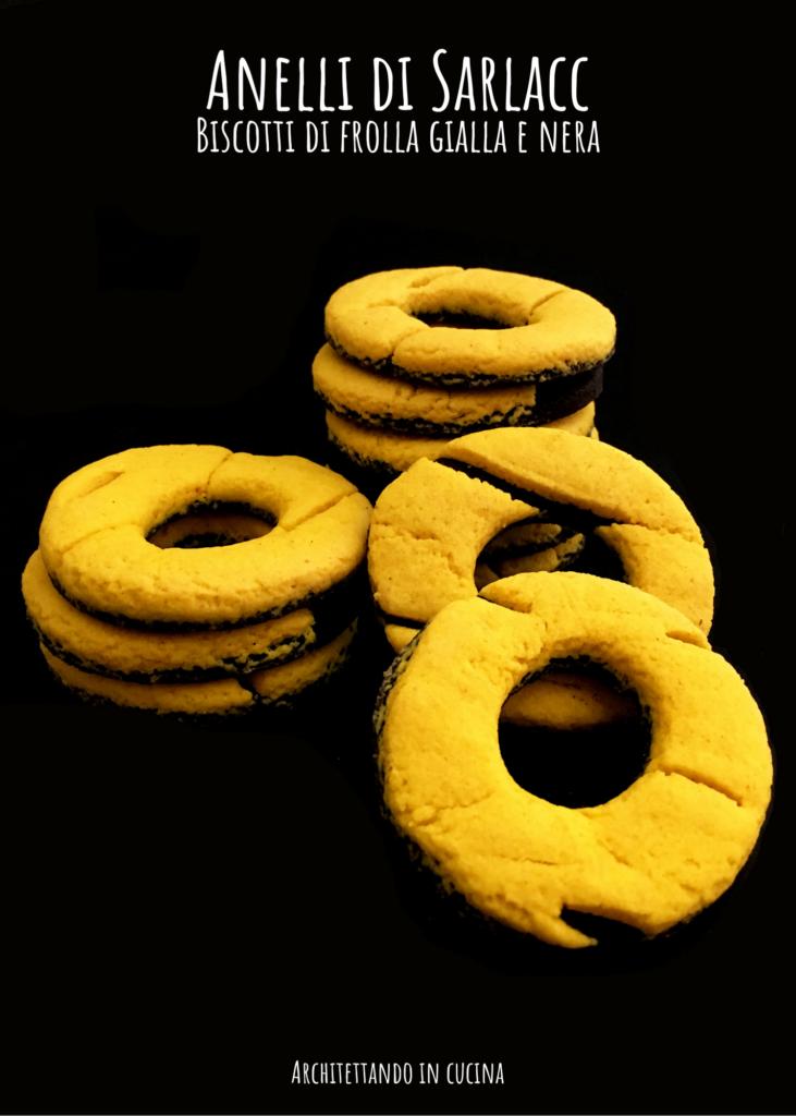 Gli anelli di Sarlacc, biscotti di frolla gialla e nera