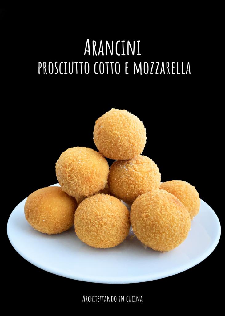 Arancini prosciutto cotto e mozzarella