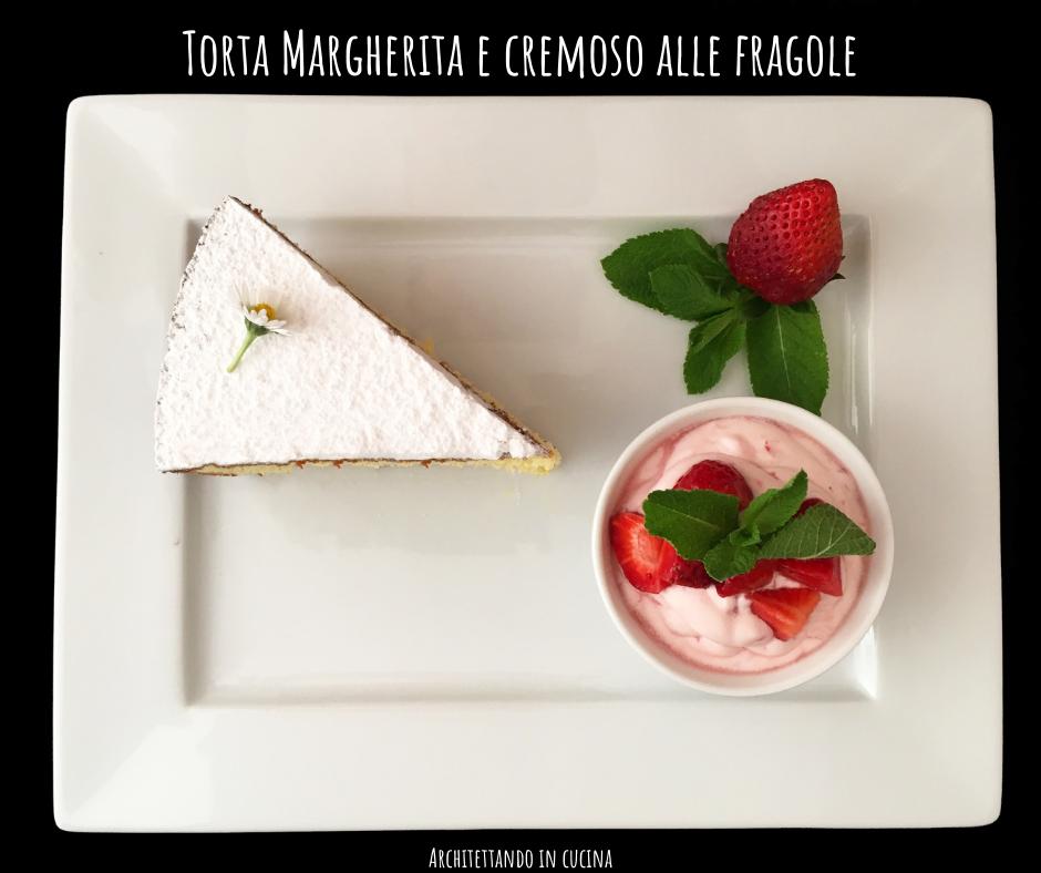 Torta Margherita e cremoso alle fragole