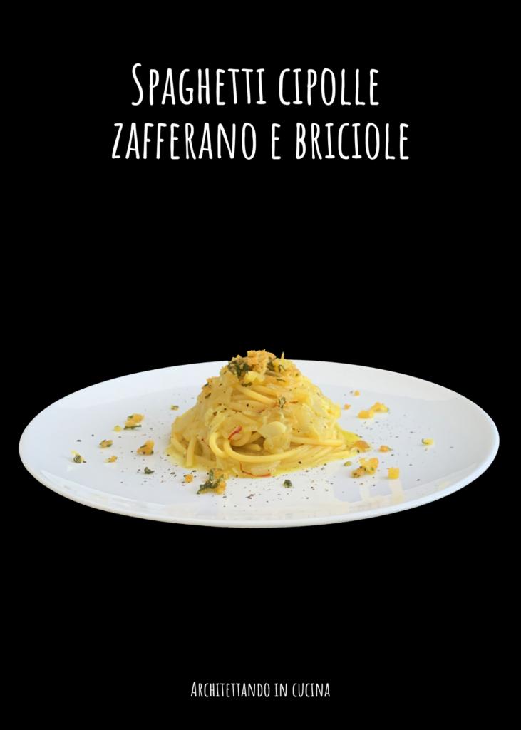 Spaghetti cipolle zafferano e briciole