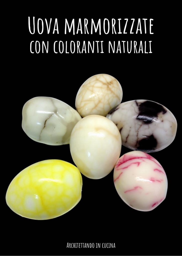 Uova marmorizzate con coloranti naturali