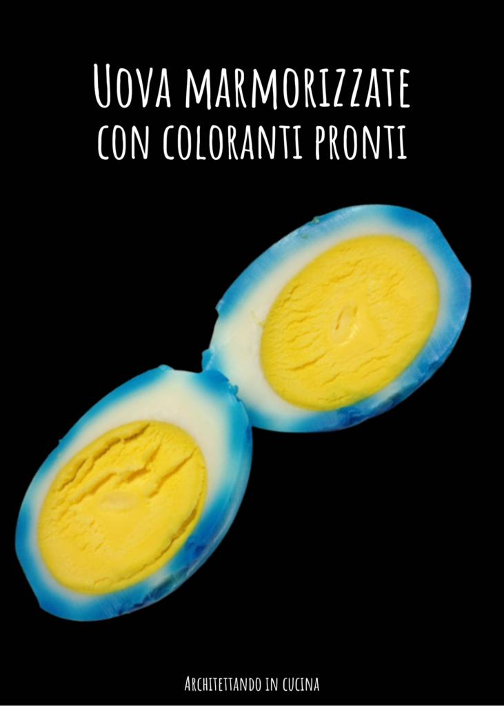 Uova marmorizzate con coloranti pronti