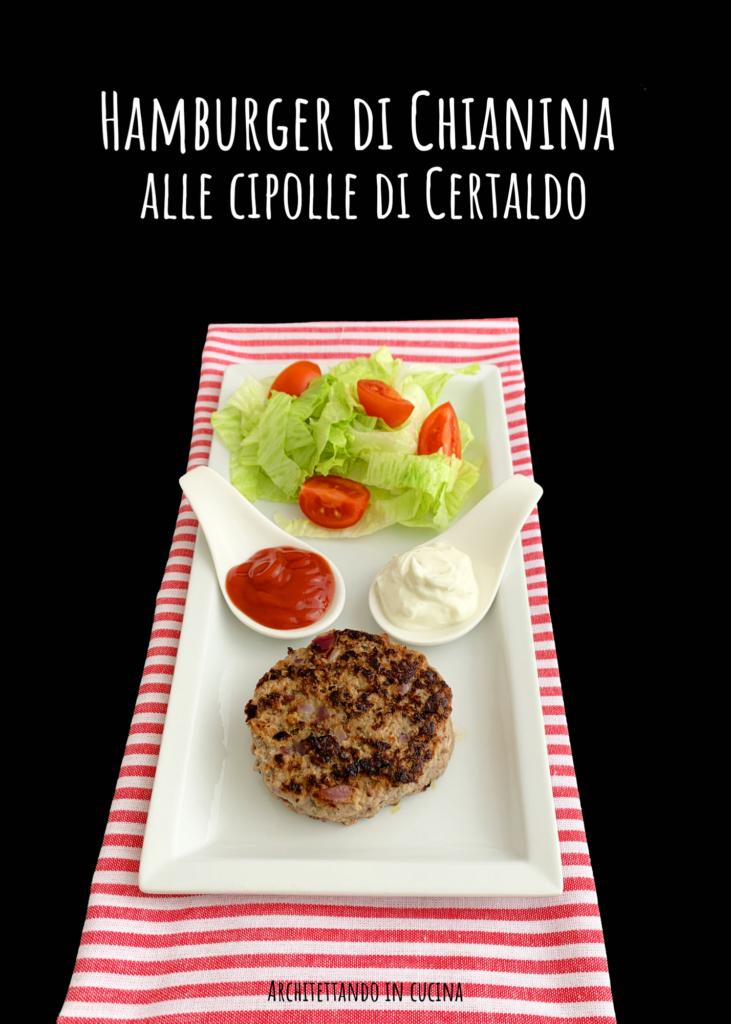 L'hamburger di Chianina alle cipolle di Certaldo